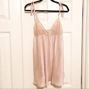 Victoria's Secret Lilac Silk Chemise Size L
